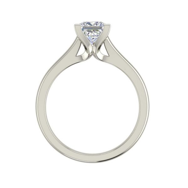 Solitaire 0.5 Carat Princess Cut Diamond Engagement Ring White Gold