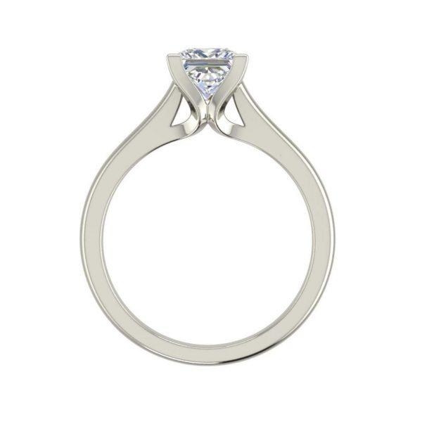 Solitaire 0.5 Carat Princess Cut Diamond Engagement Ring White Gold