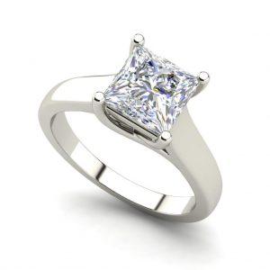 Solitaire 0.5 Carat Princess Cut Diamond Ring