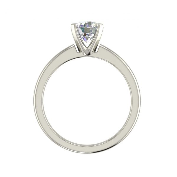 Solitaire 1 Carat Round Cut Diamond Engagement Ring 1