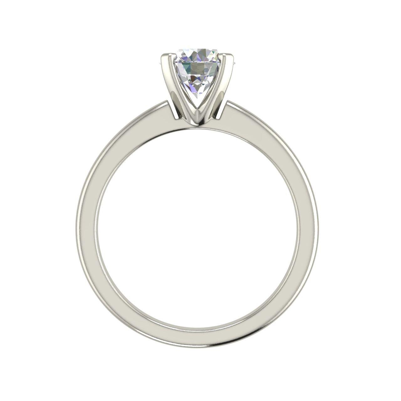 Solitaire 1 Carat Round Cut Diamond Engagement Ring 1