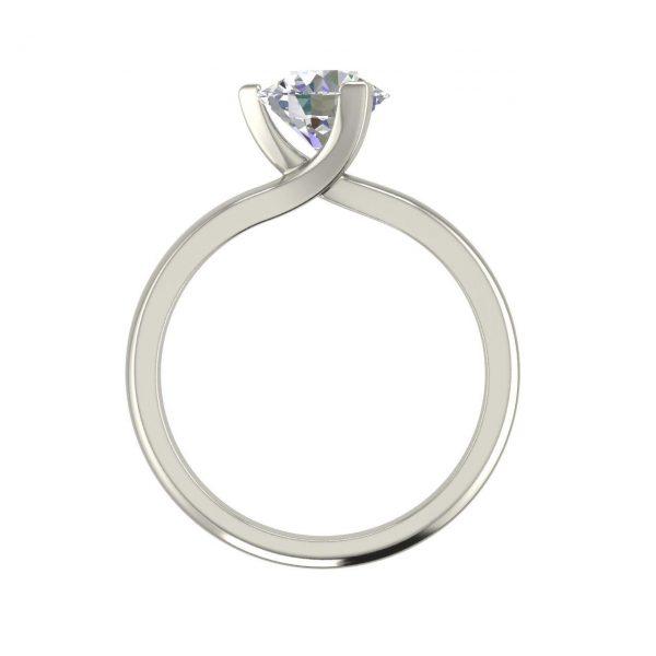 Solitaire 1 Carat Round Cut Diamond Engagement Ring