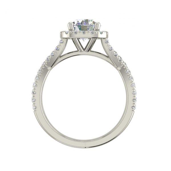 Infinity Halo 1.15 Carat Round Cut Diamond Engagement Ring