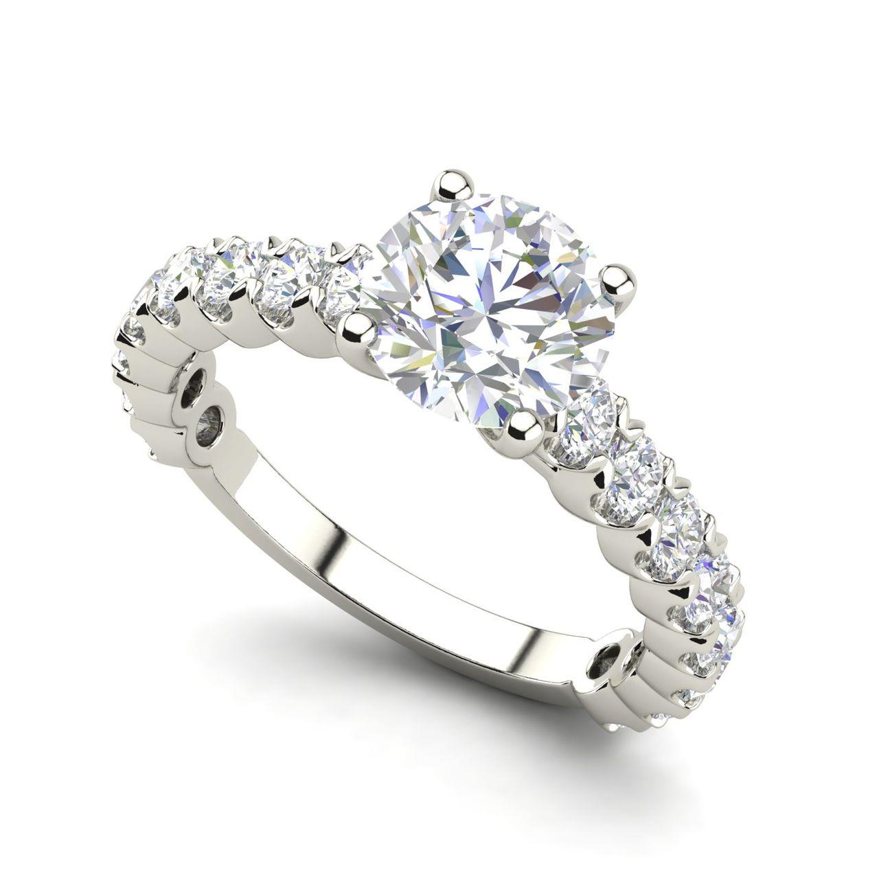 Solitaire 1.2 Carat Round Cut Diamond Engagement Ring