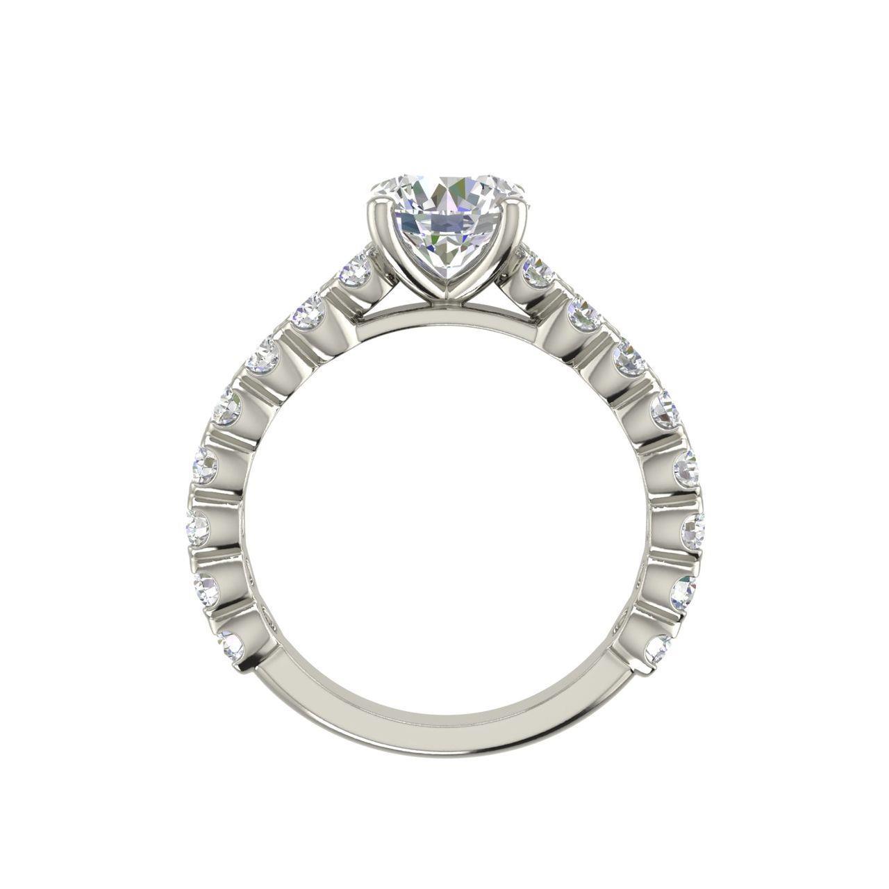 Solitaire 1.2 Carat Round Cut Diamond Engagement Ring